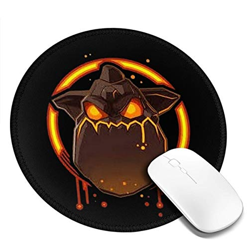 1-4 Pack Round Mouse Pads Lava Hound Teenage Circular Mouse Pad Mat, Non-Slip Rubber Base - Hounds Lava