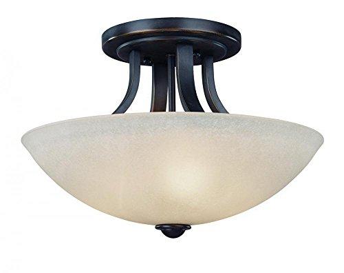 - Dolan Designs 204-78 Fireside 3 Light Semi Flush mount, Bolivian