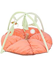 GOTOTOP Pet Toy, Portable Folding Exercise Cat Cage Tent Playpen Playing Fun House Pet Toy(Orange)
