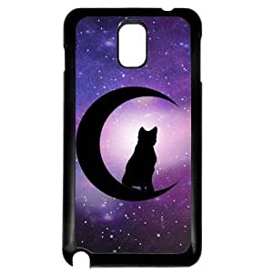 Cover for Samsung Galaxy Note 3 Cat & moon supernatural pattern art Phone case