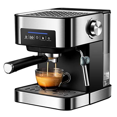 FXXJ Cafetera Espress Semiautomática para Espresso y Cappuccinos, Presión 20 Bares, Capacidad 1,6 L, 850W, Vaporizador…