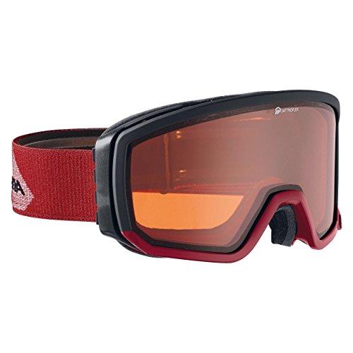 Alpina Masque de ski Scarabeo QH Quattro Flex Convient également porteurs de lunettes noir/rouge