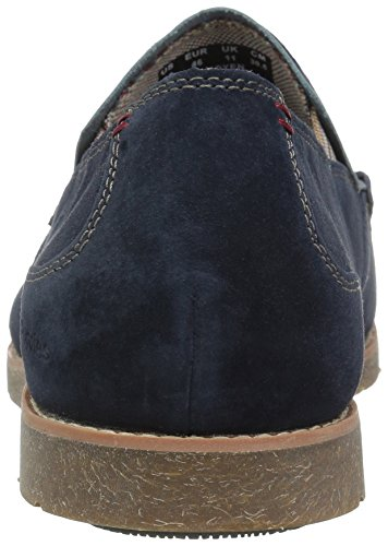 Hush Puppies Mens Lorens Jester Slip-on Loafer Marinen Mocka