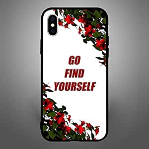iPhone X / 10 Case Cover Go Find Yourself Zoot High Quality Design Phone Covers