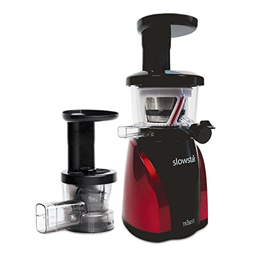 Tribest SW-2000-B Slowstar Vertical Slow Cold Press Juicer and Mincer, Red/Furious by Tribest