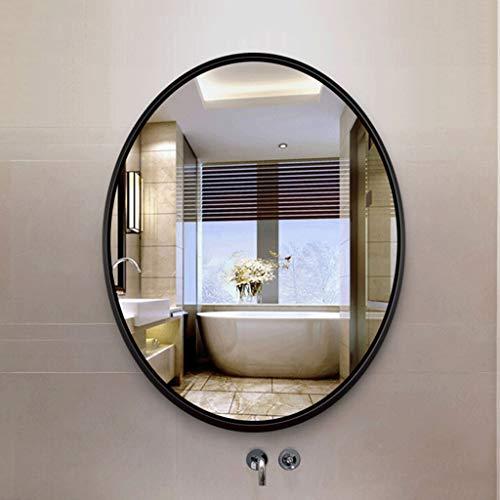MIRROR-1 600x800mm Bathroom Wall Mount Mirror, Oval Vanity Mirror, Aluminum Frame, Bedroom/Living -