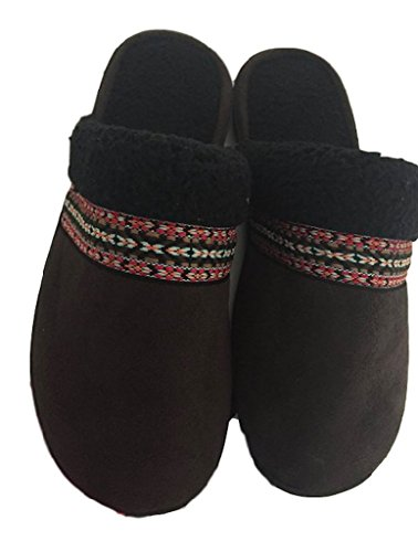 Isotoner Microsuede Clog Slippers Holiday Trusted Comfort...