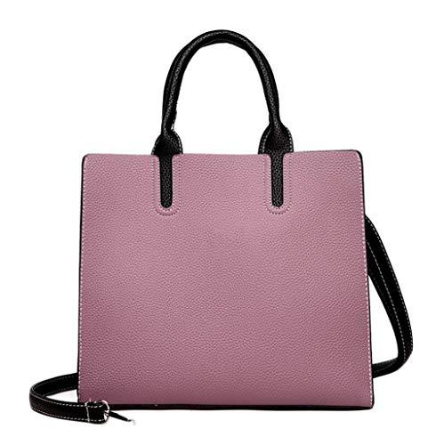 borsa viaggio messenger a da Taglia da Taglia Borsa tracolla unica donna ROSSO Rosa moda Colore SIwERnxC