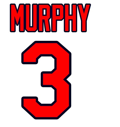 - Dale Murphy Atlanta Braves Jersey Number Kit, Authentic Home Jersey Any Name or Number Available