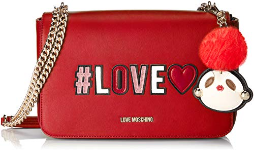 Women's Pu Red Borsa Moschino Satchel Rosso Love BnfwqFxOC