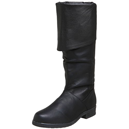 Leather Boots High Knee Sole Pig Single SIZING Costume Pirate MENS wp1UqOFxZ