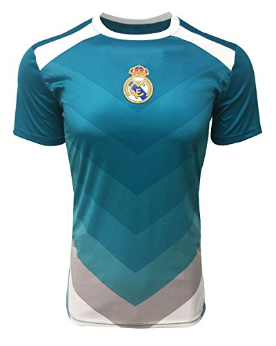 Real Madrid Official Training Jersey for Kids and Adults, Teal Color, Shirt
