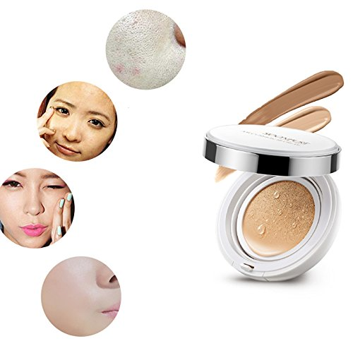 (Adealink Fashion BB Cream Concealer Moisturizing Whitening Oil Control Foundation Makeup Bare Face Beauty Air Cushion Creams Nature White )
