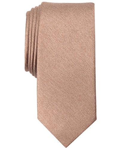 Original Penguin Men's Solid Satin Super Slim Tie, taupe One Size
