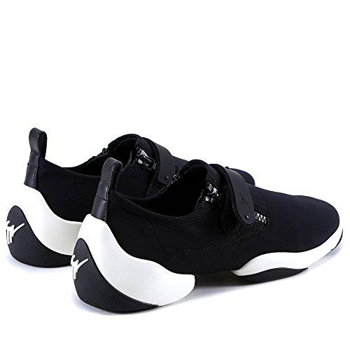 Conception Zanotti Herren Rm80066001 Giuseppe Schwarz Glisser Sur Chaussures De Sport Polyamide