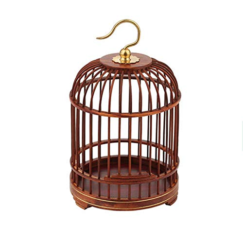 NBRTT Perfect Hanging Birdcage Lantern, Wooden Hand Crafted Bird Cage, Pet Products Classic Round Cage for Small Birds Party Home Garden Decorations ()