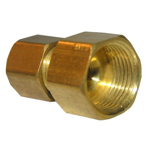 LASCO 17-6759 1/4-Inch Female Compression by 3/8-Inch Male Compression Brass Adapter
