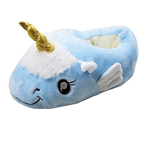 Toutes Blanche Peluche Pantoufles Taille Fantaisie Européenne pointure Licorne Douces 36 En Rainbow 41 Fox New blue Motif Mules YxHp5Sv