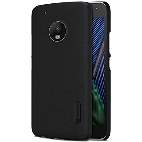 finest selection f3ba9 59781 Nillkin Frosted Shield Hard Back Case Cover + Screenguard for MOTO G5 PLUS  - Black
