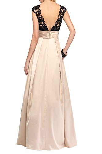 Brau mia A Promkleider La Langes Abendkleider Damen Partykleider Champagner Tanzenkleider Festlichkleider Spitze Rock Linie zqdA5d