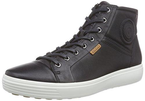 Ecco ECCO SOFT 7 MEN'S - zapatillas deportivas altas de cuero hombre Negro (BLACK1001)