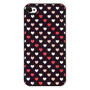 MOFY-Peque–o modelo Colorful Hearts estuche r'gido aluminoso para el iPhone 4/4S