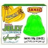 Ahmed Instant Set Banana Jelly Crystals (Halal) - 2.99oz by Ahmed