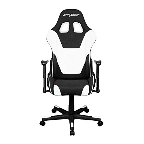 DXRacer OH/FD101/NW White & Black Formula Series Gaming Chair Ergonomic High Backrest Office Computer Chair Esports Chair Swivel Tilt and Recline with Headrest and Lumbar Cushion + Warranty