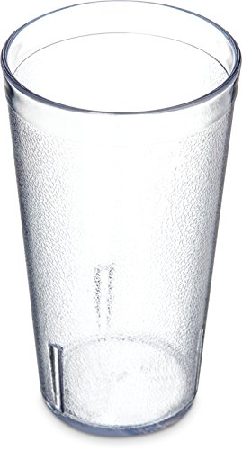 (Carlisle 521607 BPA Free Stackable Shatter-Resistant Plastic Tumbler, 16 oz., Clear (Pack of 72))