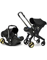 Doona Car Seat and Pram, Nitro Black, Revolutionary 0+ Car Seat that Folds Between Car Seat & Pram in Seconds, ISOFIX Base Available. Car Seat H60cm x W44cm, Pram H99cm x 82cm. Perfect for Travelling