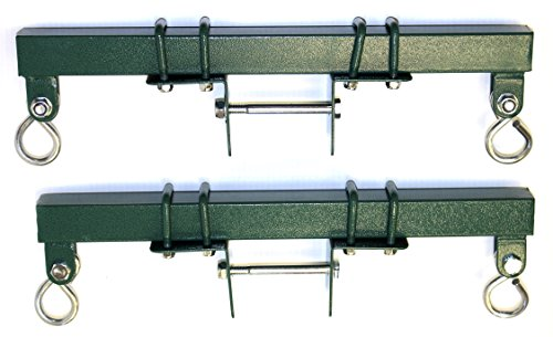 - Eastern Jungle Gym Heavy Duty Brackets (Pair) for Backyard Swing Set Horse Glider Seat - Adjustable to Mount to Any Size Wooden Swing Beam