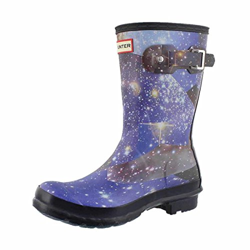 Hunter Boots Women's Original Short Space Camo Rain Boot Midnight 8 M US by Hunter