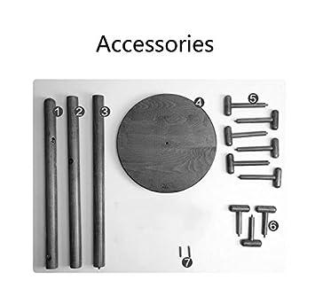 Amazon.com: LXF Round Bottom Design Solid Wood Coat Rack ...