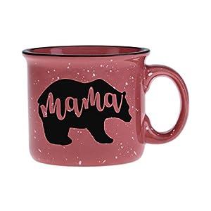 Coral Mama Bear Coffee Mug