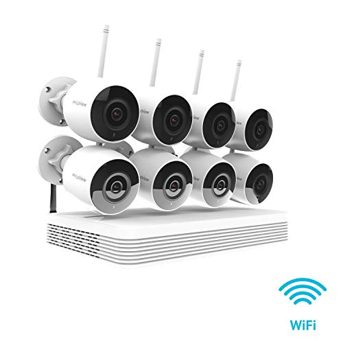 LaView Wireless Wi-Fi 8CH HD 1080P Security CCTV Surveillance System – Eight 2MP Wireless Wi-Fi Indoor Outdoor IP Cameras, IR LED Night Vision, 150ft Wi-Fi Range, Mobile Alerts