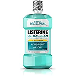Listerine Ultraclean Cool Mint Antiseptic Mouthwash, Oral Care For Fresh Breath, 500 ml