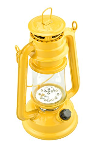 SE FL805-15Y 15-LED Yellow Hurricane Lantern with Dimmer Switch