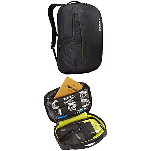 Thule Subterra Backpack 30L, Dark Shadow with Thule Subterra PowerShuttle, Dark Shadow