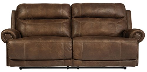 Signature Design by Ashley Austere 2 Seat Reclining Sofa Brown