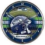 Seattle Seahawks Round Chrome Wall Clock