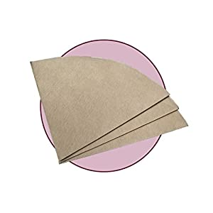 FOX PRIME Bonded Natural Pre-folded Circular Coffee Filters (100 Filters) for Chemex, Bodum and other Coffeemaker Precision Brewing with Free FOXGALLERY Coffee Guide