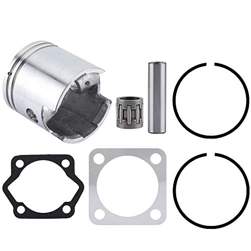 Aramox Piston Gasket Kit, 66cc 80cc Motorcycle Cylinder Piston Ring Gasket Kit for Skyhawk GT5 Motor Bike (Piston Motorcycle Rings)