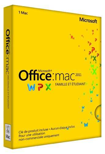 Microsoft Office Mac Home Student 2011 French (Home 2011 Student And Microsoft)