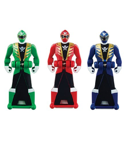 Power Rangers Super Megaforce - Power Rangers Super Megaforce Legendary Ranger Key Pack, Red/Blue/Green