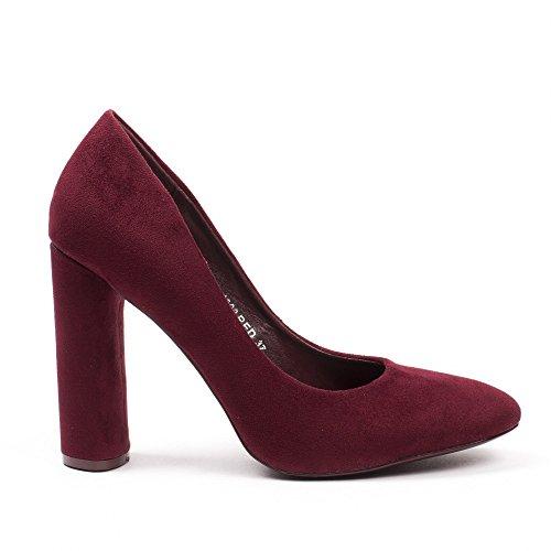 Ideal Shoes, Damen Pumps Bordeaux