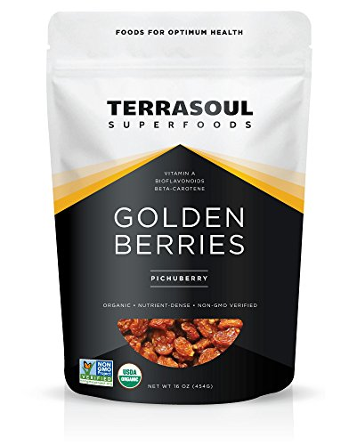 Terrasoul Superfoods Organic Golden Berries, 16 ounces
