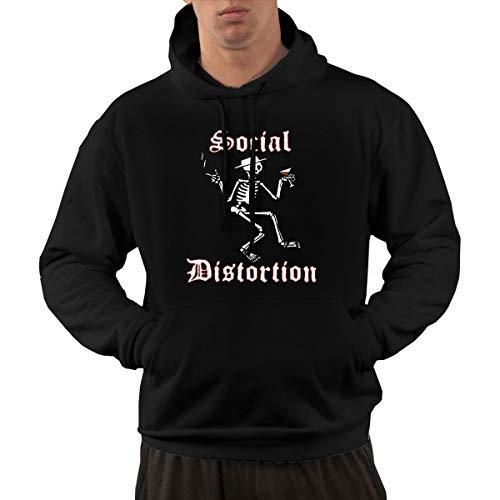 QUCHEN Men's Casual Cotton Social Come Distortion Leisure Walk Hoodies Hooded Sweatshirts L -