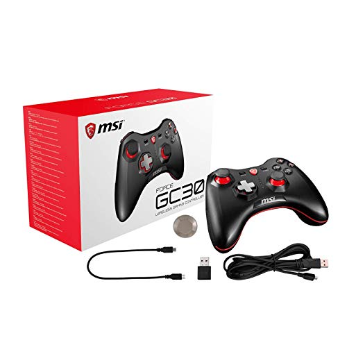 MSI FORCE GC30 Wireless Pro Gaming Controller PC and Android 'PC and Android ready, Upto 8 hours battery usage…