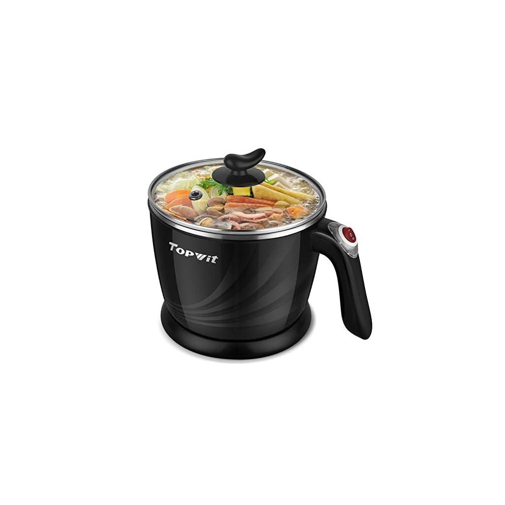 Topwit Electric Hot Pot Mini Electric Cooker Noodles