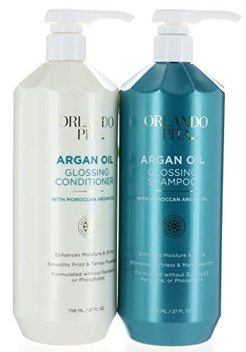 Argan Gloss Hair Shampoo and Conditioner Set (798ml/27floz by ORLANDO PITA